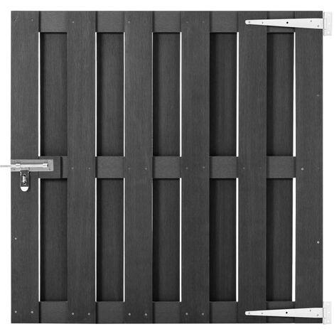 Puerta de jardín de WPC gris 100x100 cm