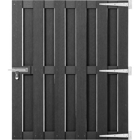 Puerta de jardín de WPC gris 100x120 cm