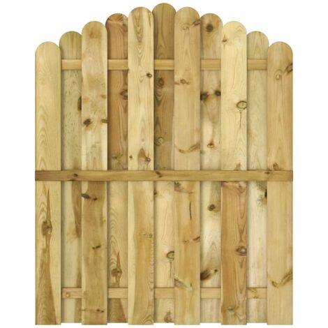 Puerta de jardín madera de pino impregnada 100x125 cm