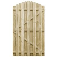 Puerta de jardín madera de pino impregnada 100x175 cm arqueada