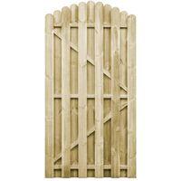 Puerta de jardín madera de pino impregnada 100x195 cm arqueada