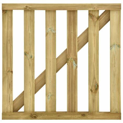 Puerta de listones jardín de madera pino impregnada 100x100cm