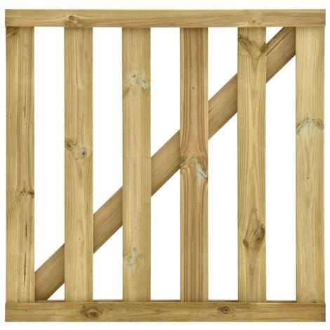 Puerta de listones jardin de madera pino impregnada 100x100cm