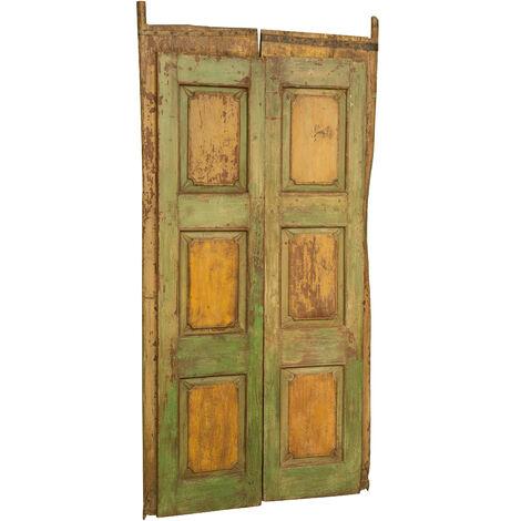Puerta de madera maciza y hierro para uso interior o exterior, antigua y antigua medieval