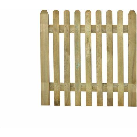 Puerta de madera para valla modelo inglesa 100x100