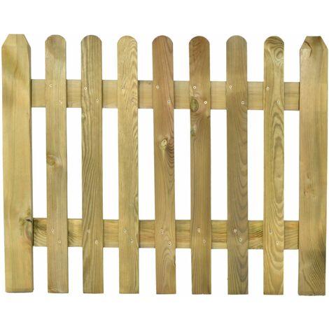 Puerta de madera para valla modelo inglesa 80x100