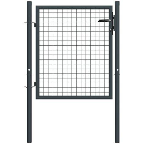 Puerta de malla de jardín acero galvanizado gris 100x125 cm - Gris
