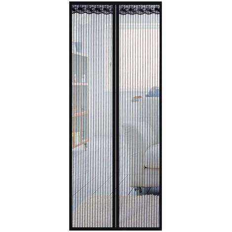 Puerta de pantalla magnetica con la cortina del acoplamiento, Portal Mosquitera Bug de malla con marco completo sujetador de cinta, 90x220cm