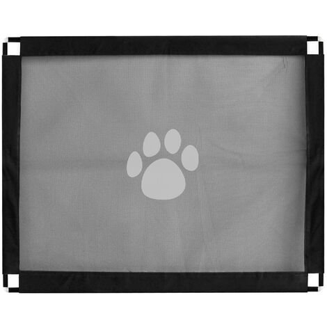 Puerta de seguridad magica para mascotas, valla de malla plegable
