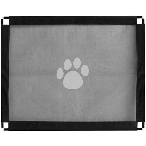 Puerta de seguridad para mascotas, valla de red de proteccion portatil plegable