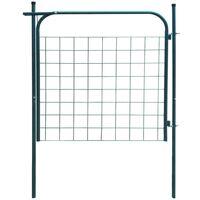 Puerta de valla de jardín 100x100 cm verde