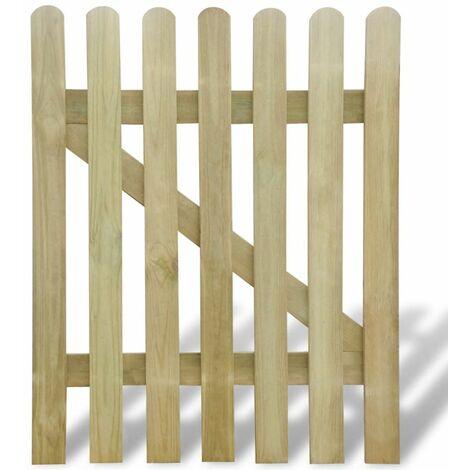 Puerta de valla de jardin 100x120 cm madera FSC