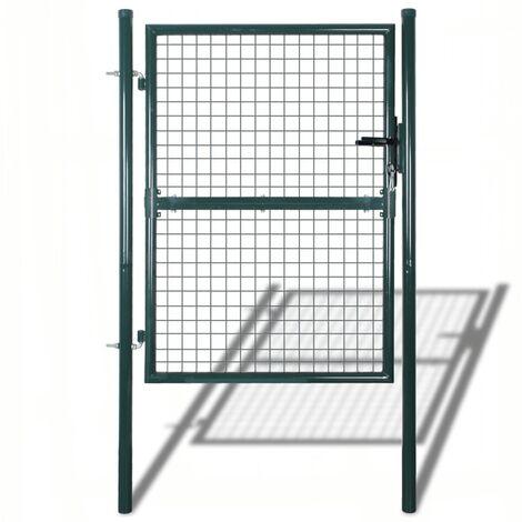 Puerta de valla de jardín 85,5x125 cm/100x175 cm