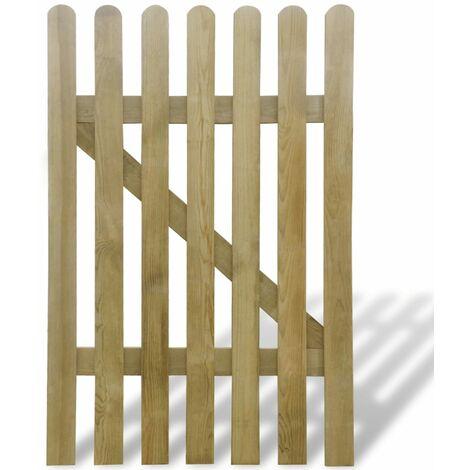 Puerta de valla de jardín de madera 100x150 cm - Marrón