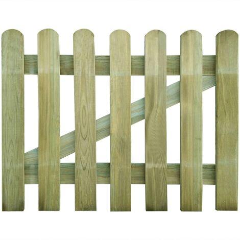 Puerta de valla de jardín de madera 100x80 cm - Marrón