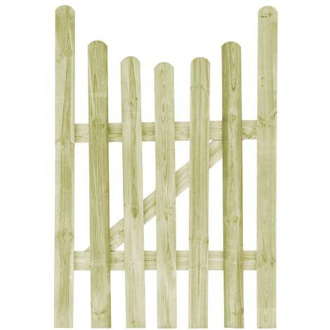 Puerta de valla de madera de pino impregnada 100x150 cm