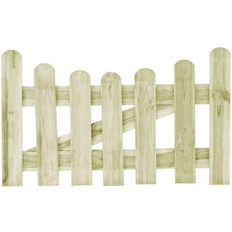 Puerta de valla de madera de pino impregnada 100x60 cm
