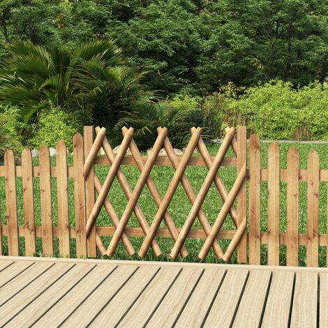 Puerta de valla de madera de pino impregnada 100x80 cm