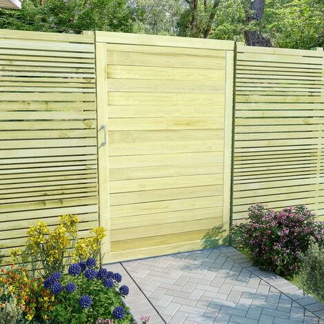 Puerta de valla de madera de pino impregnada 150x100 cm