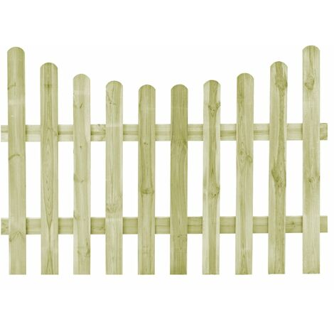 Puerta de valla de madera de pino impregnada 170x120 cm