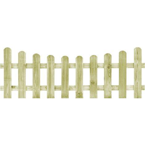 Puerta de valla de madera de pino impregnada 170x60 cm