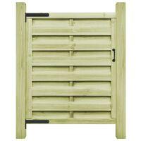 Puerta de valla de madera de pino impregnada FSC 100x125 cm