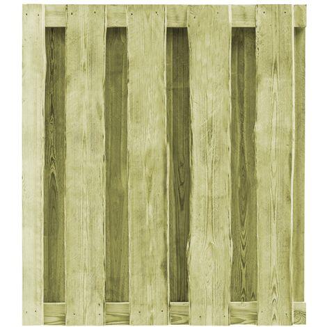Puerta de valla de madera pino impregnada verde 100x100 cm