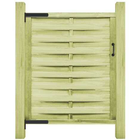 Puerta de valla madera de pino impregnada 100x150 cm verde - Verde