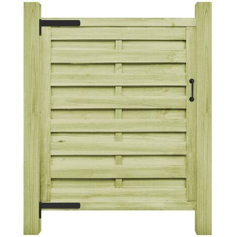 Puerta de valla madera de pino impregnada verde 100x150 cm - Verde