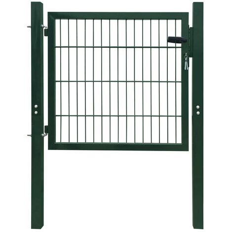 Puerta de verja 2D (sencilla) verde 106 x 130 cm HAXD04125