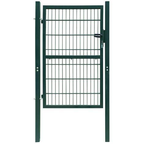 Puerta de verja 2D (sencilla) verde 106 x 170 cm