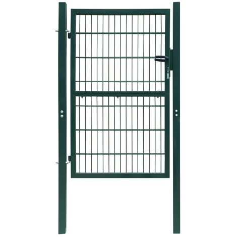 Puerta de verja 2D (sencilla) verde 106 x 170 cm HAXD04126