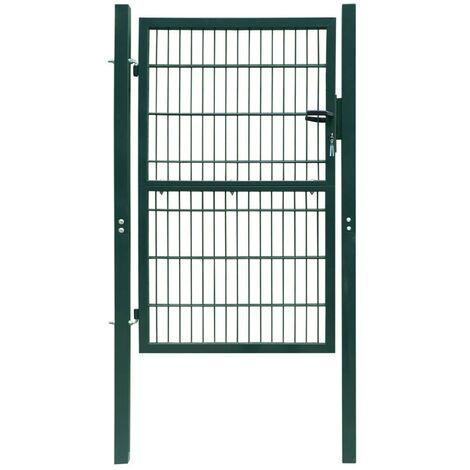 Puerta de verja 2D (sencilla) verde 106 x 230 cm