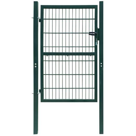Puerta de verja 2D (sencilla) verde 106 x 230 cm - Verde