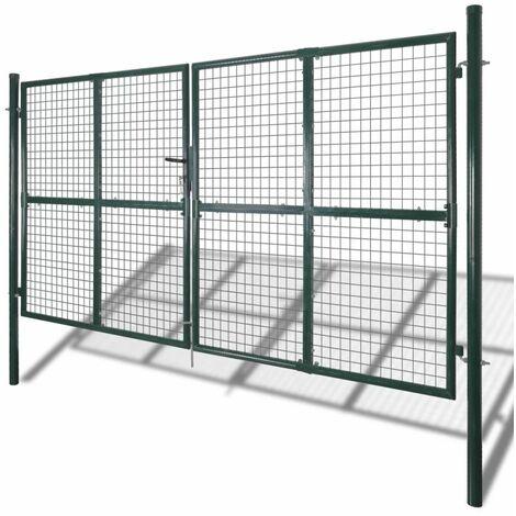 puerta doble de valla con recubrimiento en polvo de acero