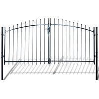 Puerta doble para valla con puntas de lanza 300x200cm
