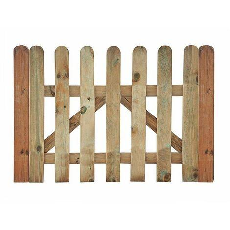 "main image of ""Puerta madera para valla clásica jardín"""