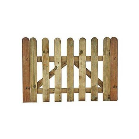 puerta madera para Valla clasica lama rayada