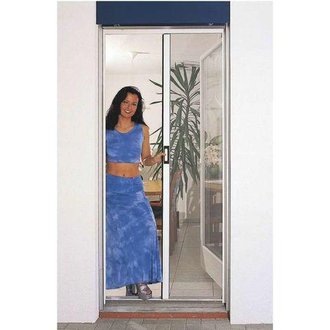 Puerta mosquitera automática blanca - Ancho máximo 160 cm