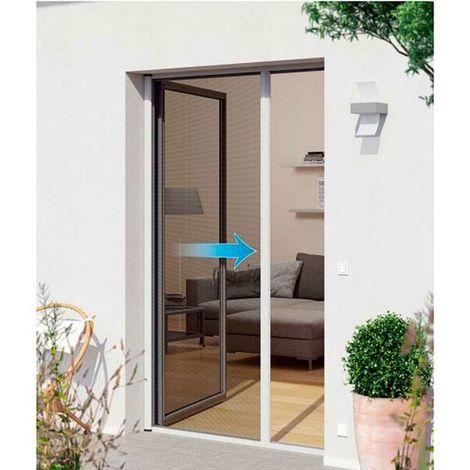 Puerta mosquitera automática blanca Anchura máxima 160 cm - Ancho máximo 140 cm