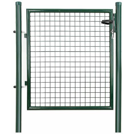 Puerta para jardín de hierro 100 x 100cm GGD150G - Verde