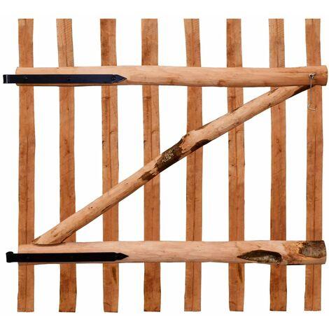Puerta para valla 100x100cm madera de avellano impregnada