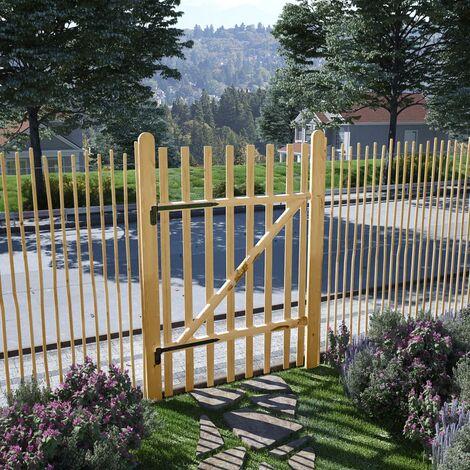 Puerta para valla 100x150 cm madera de avellano - Beige