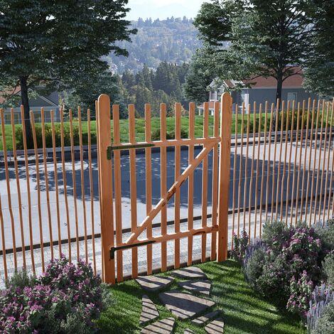 Puerta para valla 100x150cm madera de avellano impregnada - Marrón