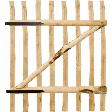 Puerta para valla madera de avellano 100x120cm