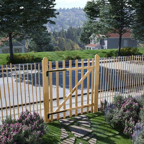 Puerta para valla madera de avellano 100x120cm - Beige