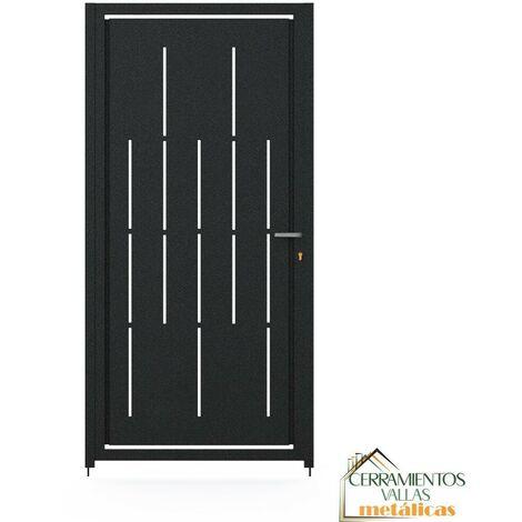 Puerta Peatonal Independiente - Modelo Granada 100x150 Gris Antracita