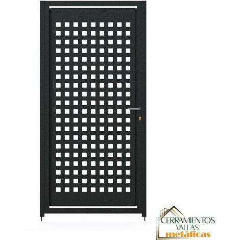 Puerta Peatonal Independiente - Modelo Madrid 100x100 Granate