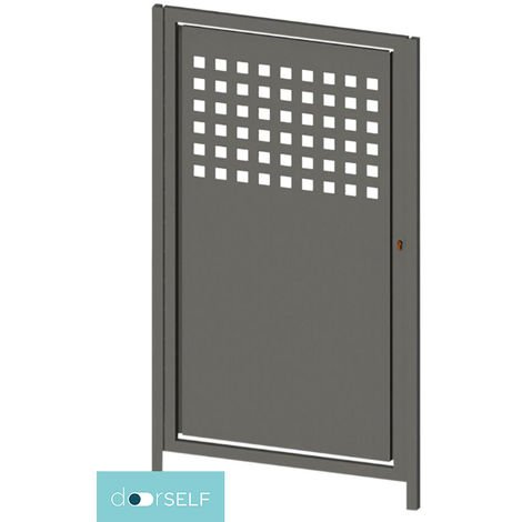 PUERTA PEATONAL INDEPENDIENTE MODULAR doorSELF - MODULO CHAPA 100X150 cm MOD. SQUARE UP