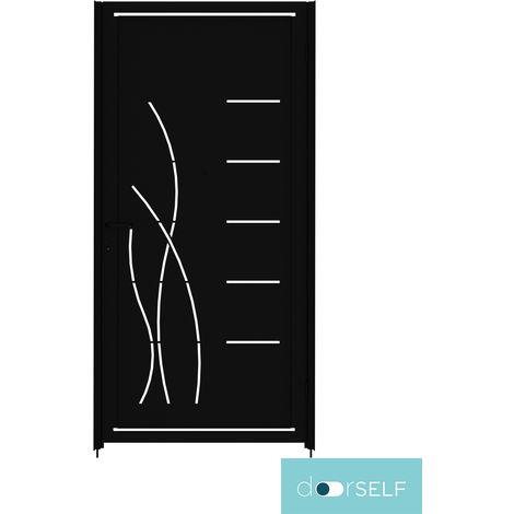 PUERTA PEATONAL INDEPENDIENTE MODULAR doorSELF - MÓDULO CHAPA 100x200cm MOD.LINES&RUSHES